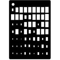 Creative Expressions - Mini Stencil - Rectangle Illusion