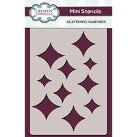 Creative Expressions - Mini Stencil - Scattered Diamonds