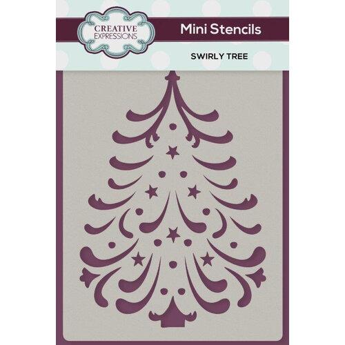 Creative Expressions - Christmas - Stencils - Mini - Swirly Tree