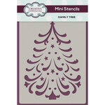 Creative Expressions - Christmas - Stencils - Mini - Swirly Tree