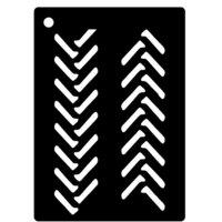 Creative Expressions - Mini Stencil - Tyre Tracks