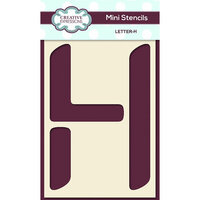 Creative Expressions - Mini Stencil - Upper Case Letter H