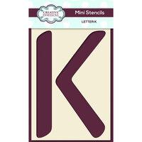 Creative Expressions - Mini Stencil - Upper Case Letter K
