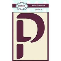 Creative Expressions - Mini Stencil - Upper Case Letter P