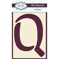 Creative Expressions - Mini Stencil - Upper Case Letter Q