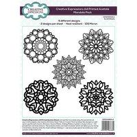 Creative Expressions - Printed Acetate - Mandala Pack