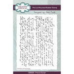 Creative Expressions - Pre Cut Rubber Stamps - French Script