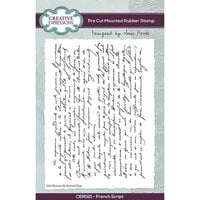 Creative Expressions - Unmounted Rubber Stamps - French Script