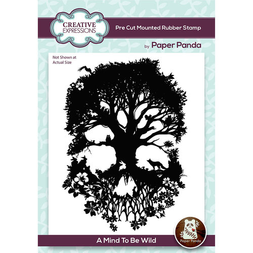 Creative Expressions - Paper Panda Collection - Unmounted Rubber Stamps - A Mind To Be Wild