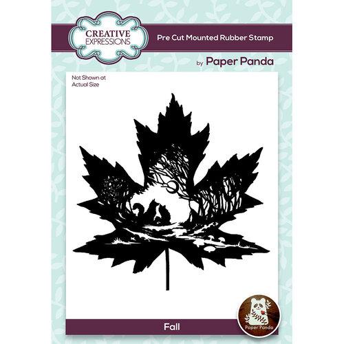 Creative Expressions - Paper Panda - Pre Cut Rubber Stamp - Fall