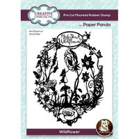 Creative Expressions - Paper Panda - Pre Cut Rubber Stamp - Wildflower