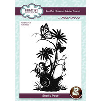 Creative Expressions - Paper Panda - Pre Cut Rubber Stamp - Snails Pace