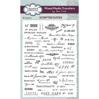 Creative Expressions - Mixed Media Transfers - Scripted Dates