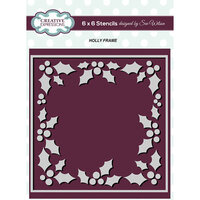 Creative Expressions - 6 x 6 Stencil - Holly Frame