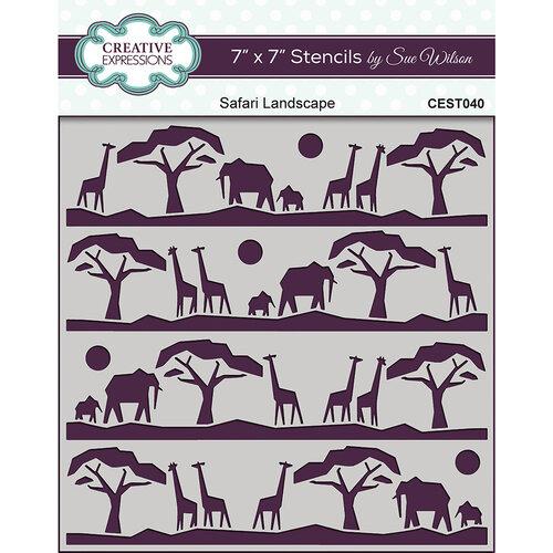 Creative Expressions - Safari Collection - Stencils - Safari Landscape
