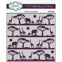 Creative Expressions - Safari Collection - Stencils - Safari Landscape