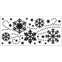 Creative Expressions - DL Stencils - Slimline - Snowflake Flurry