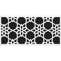 Creative Expressions - DL Stencils - Slimline - Poinsettia Lace