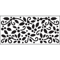 Creative Expressions - DL Stencils - Slimline - Winter Holly