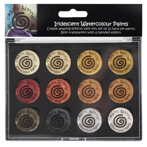 Creative Expressions - Cosmic Shimmer - Iridescent Watercolour Palette - Set 1 - Metallics