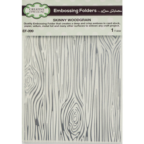 Creative Expressions Woodgrain Embossing Folder