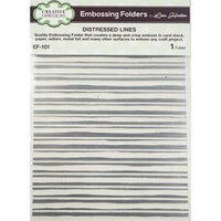 Creative Expressions - Embossing Folder - Distressed Lines