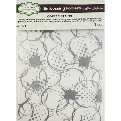 Creative Expressions - Embossing Folder - Coffee Stains