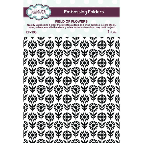 Creative Expressions - Embossing Folder - Field of Flowers