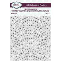 Creative Expressions - 3D Embossing Folder - Heart Rainbows
