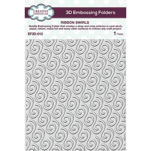 Creative Expressions - 3D Embossing Folder - Ribbon Swirls