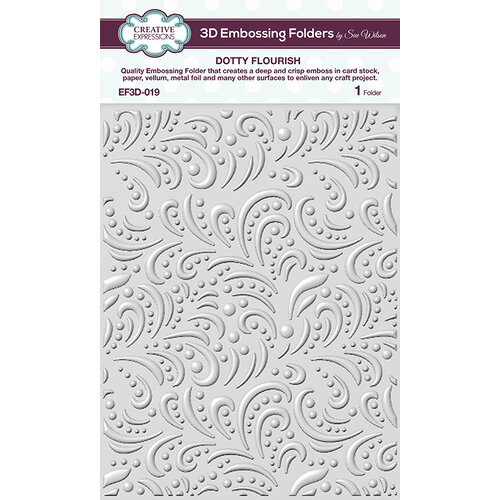 Creative Expressions - 3D Embossing Folder - Dotty Flourish