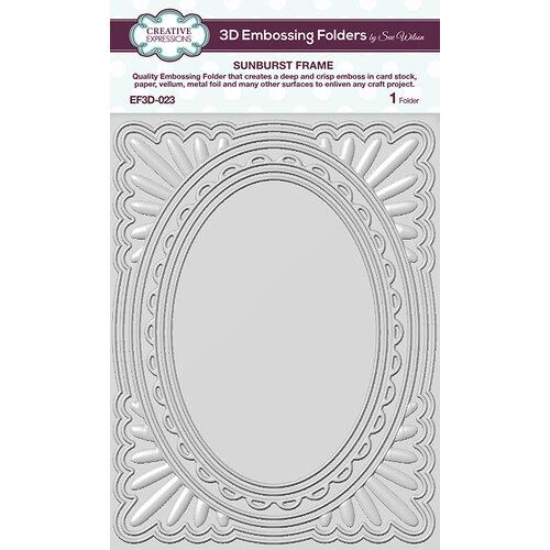 Creative Expressions - 3D Embossing Folder - Sunburst Frame