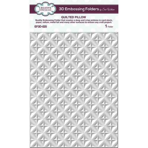 Creative Expressions - 3D Embossing Folder - Quilted Pillow