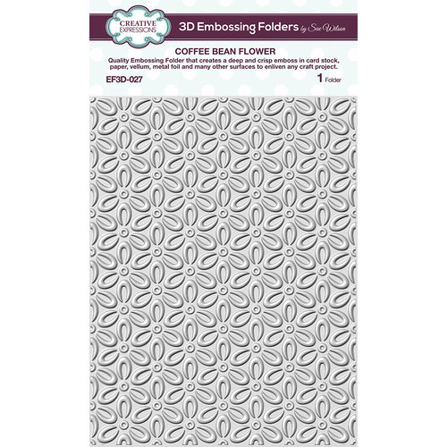 Creative Expressions - 3D Embossing Folder - Coffee Bean Flower