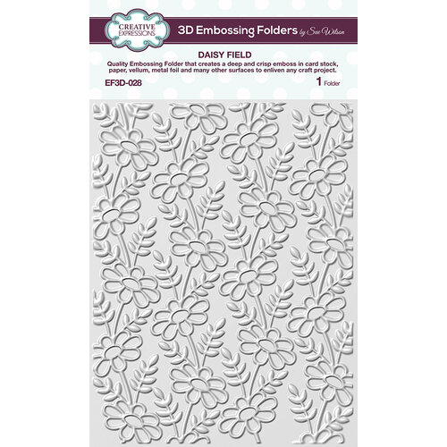 Creative Expressions - 3D Embossing Folder - Daisy Field