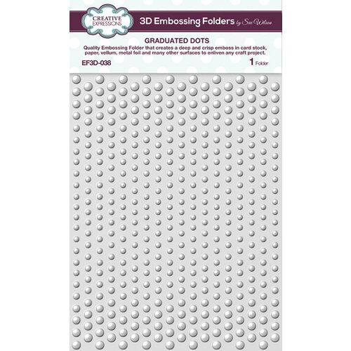 Creative Expressions - 3D Embossing Folder - Graduated Dots
