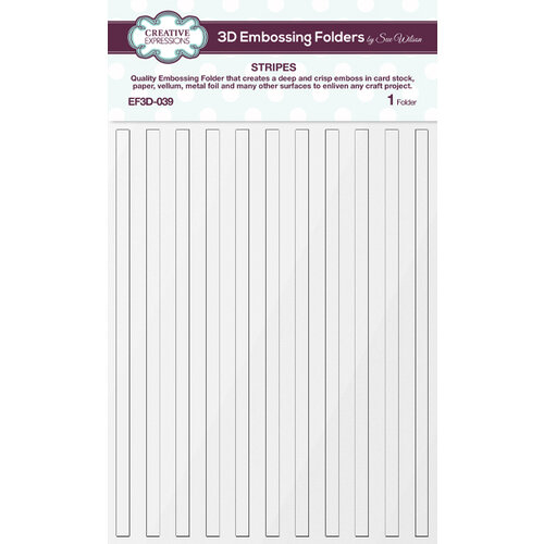 Creative Expressions - 3D Embossing Folder - Stripes
