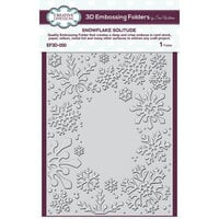 Creative Expressions - Christmas - 3D Embossing Folder - Snowflake Solitude