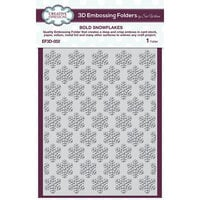 Creative Expressions - Christmas - 3D Embossing Folder - Bold Snowflakes
