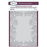 Creative Expressions - Christmas - 3D Embossing Folder - Decorative Poinsettia Frame