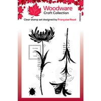 Creative Expressions - Woodware - Clear Acrylic Stamps - Singles - Mini Flower Silhouettes