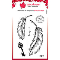 Creative Expressions - Woodware - Clear Photopolymer Stamps - Singles - Two Feathers