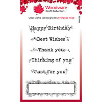Creative Expressions - Woodware - Clear Photopolymer Stamps - Singles - Boxed Greetings