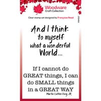 Creative Expressions - Woodware - Clear Photopolymer Stamps - Singles - Great Things