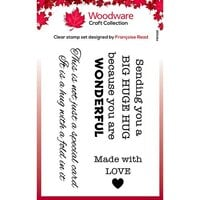 Creative Expressions - Woodware - Clear Acrylic Stamps - Singles - Big Hugs