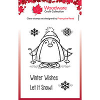 Creative Expressions - Woodware Clear Singles - Clear Photopolymer Stamps - Christmas - Peter Penguin