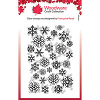 Creative Expressions - Woodware Clear Singles - Clear Photopolymer Stamps - Christmas - Snowflake Flurry