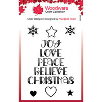 Creative Expressions - Woodware Craft Collection - Christmas - Clear Photopolymer Stamps - Word Tree