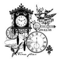 Creative Expressions - Woodware Clear Singles - Clear Photopolymer Stamps - Time After Time