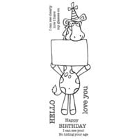 Creative Expressions - Woodware Clear Singles - Clear Photopolymer Stamps - Party Giraffe